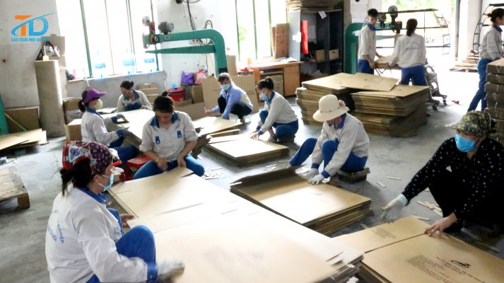 Quy trình sản xuất thùng carton bao bì được bảo đảm theo tiêu chuẩn khắt khe về chất lượng